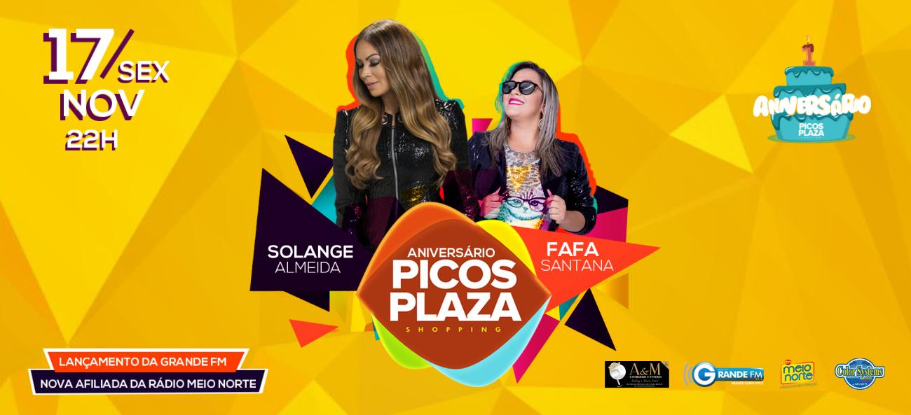 Picos Plaza Shopping comemora seu primeiro aniversário com grande festa
