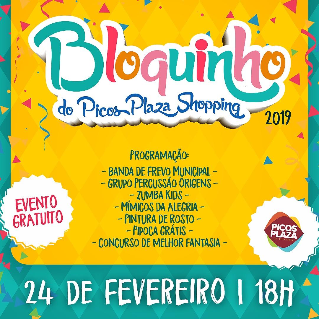 Confira as atrações do Bloquinho do Picos Plaza Shopping