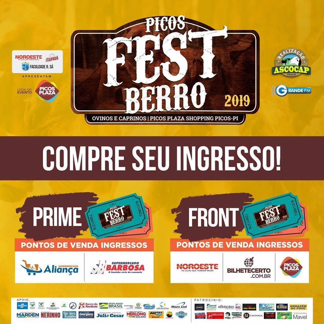 Picos Fest Berro 2019 deve movimentar R$ 2 milhões e meio de reais