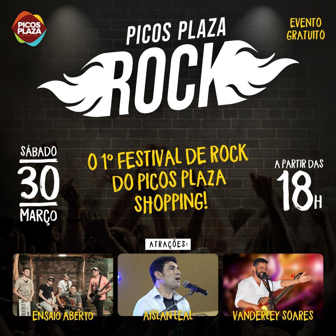 Picos Plaza Rock acontecerá no próximo dia 30 de março