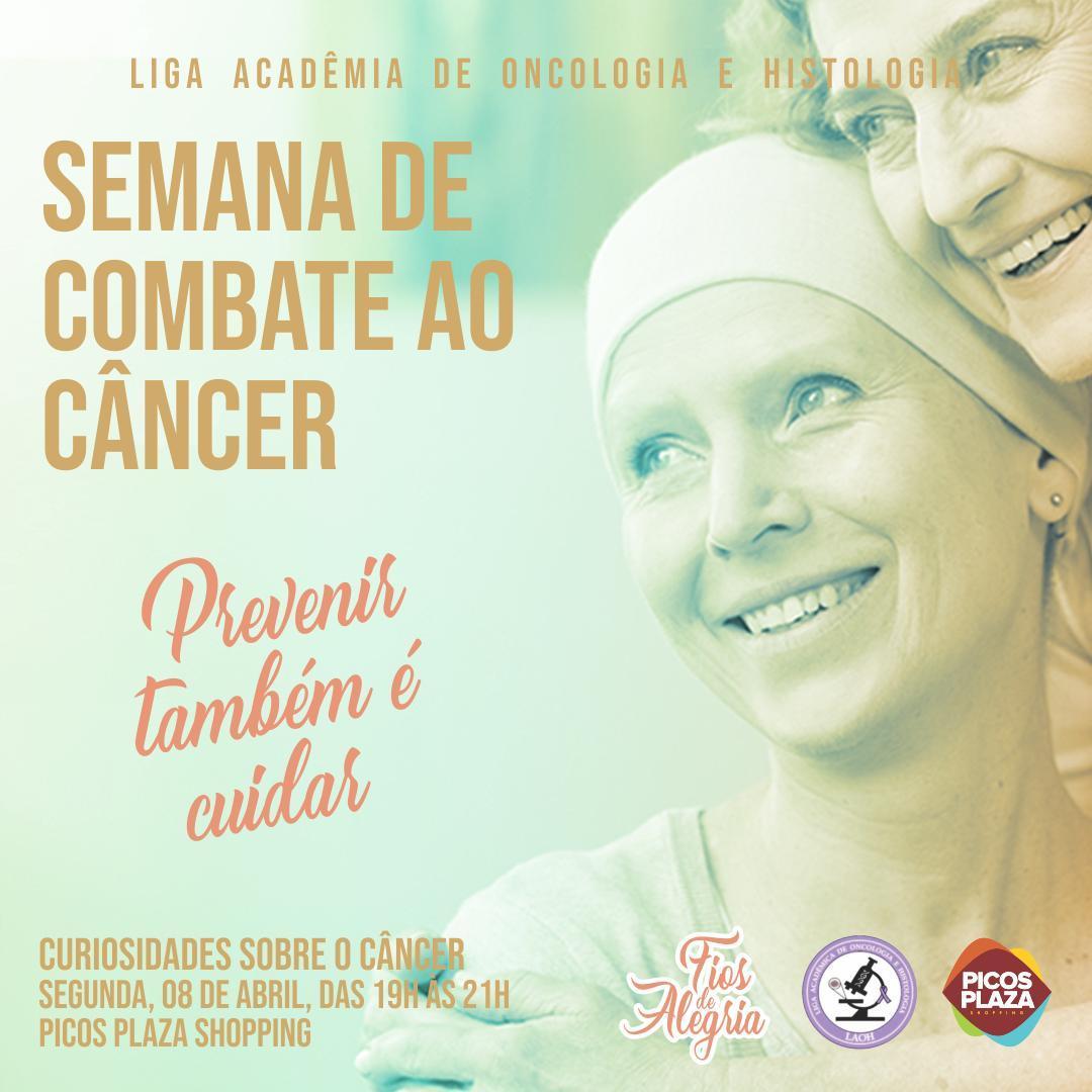 No Dia Mundial de Combate ao Câncer, intervenções serão feitas no Picos Plaza Shopping