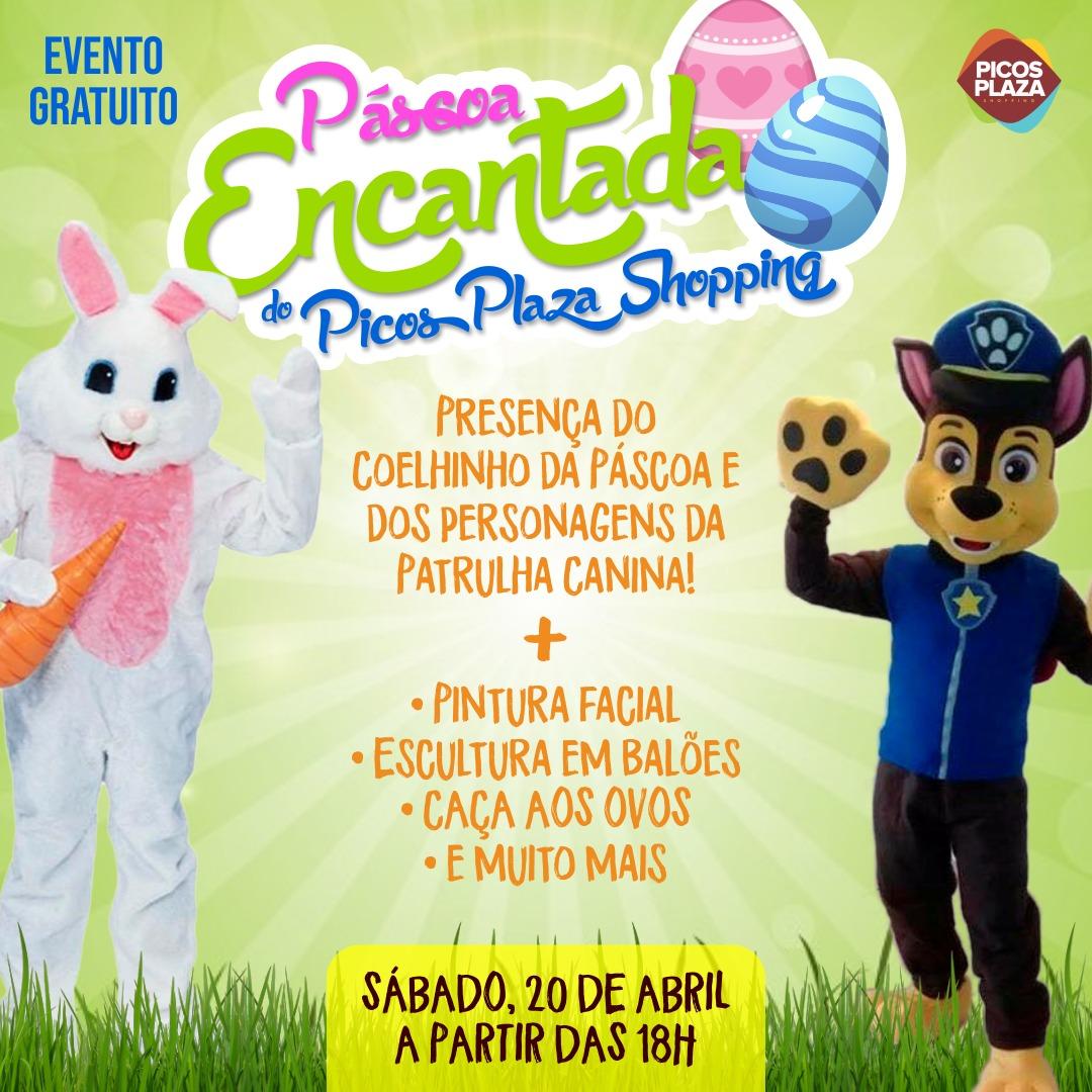 Confira a programação de Páscoa do Picos Plaza Shopping